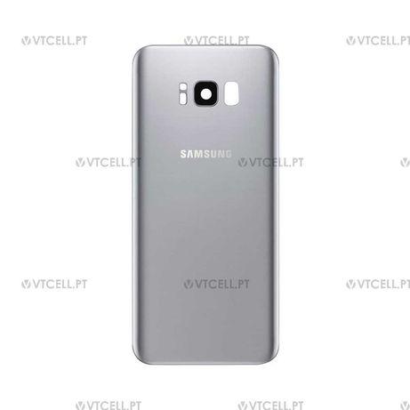 Tampa traseira em vidro para Samsung Galaxy S8 - Prateado (SM-G950F)