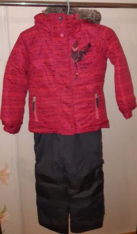 Зимний комплект, курточка, полукомбез  PELUCHE&TARTINE, 6 лет