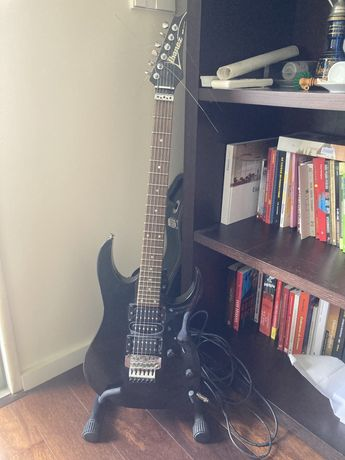 Guitarra ibanez RG 270-bk + mala + suporte