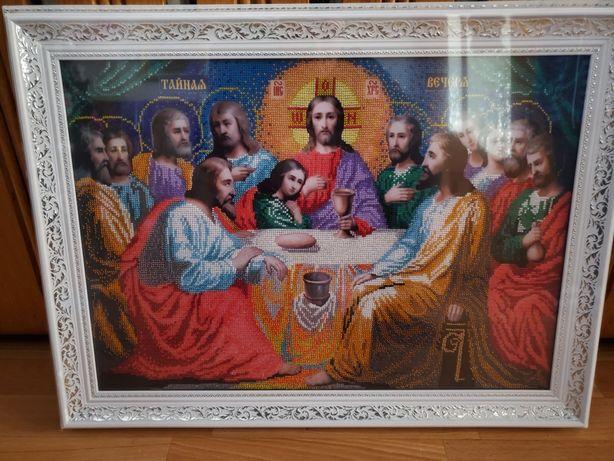 Картина з бісеру Тайна вечеря. Картина из бисера