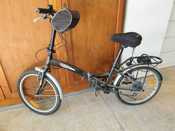 Bicicleta desdobrável + cadeado+ bolsa