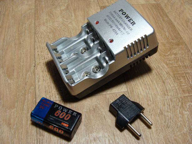 """Зарядное устройство с аккумулятором 9В """"крона"""""""