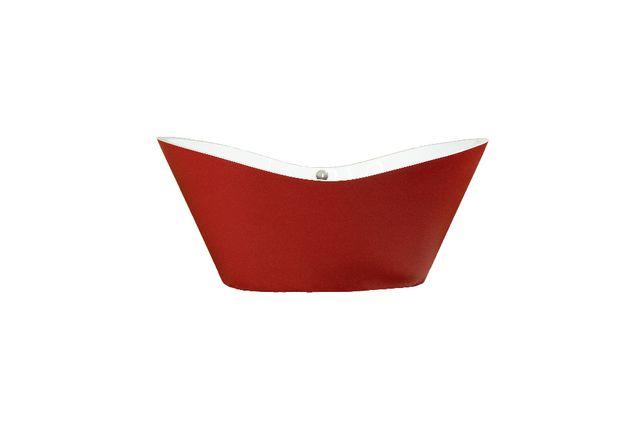 Ekskluzywna Wanna Wolnostojąca BARCELONA 176 x 90 czerwona SYFON BANO2