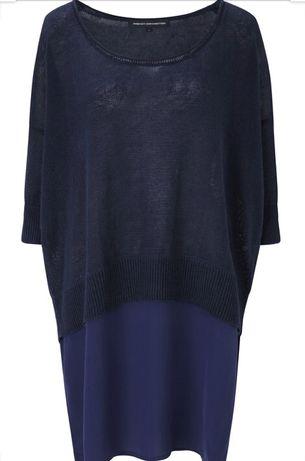 Свитер, платье oversize, туника из льна и шёлка, French Connection