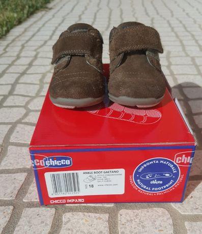 Sapatos de menino de camurça castanhos Chicco nr. 18
