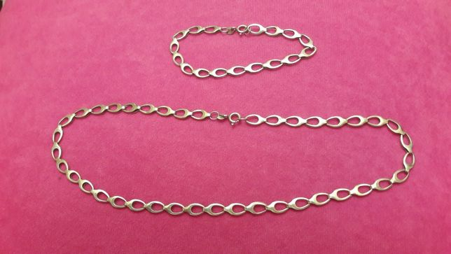 Srebrny kmplet łańcuszków
