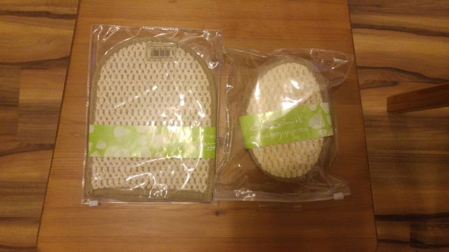 Zestaw kąpielowy rękawica + myjka (gąbka) akcesoria kąpielowe prezent