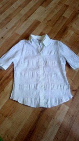 Koszula biała z krótkim rękawem drapowana roz 38