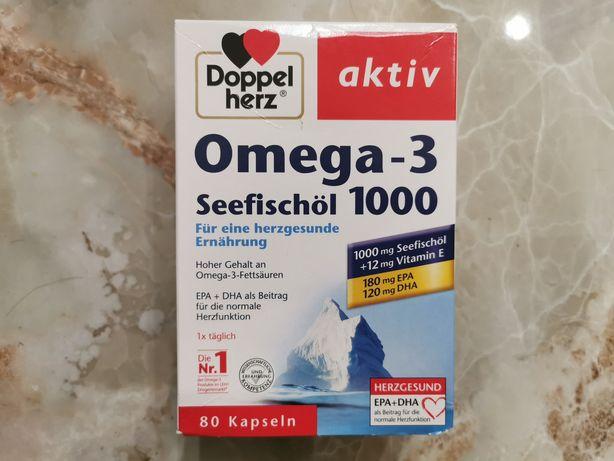 Doppelherz омега-3: - Пищевая добавка с рыбьим жиром и витамином Е