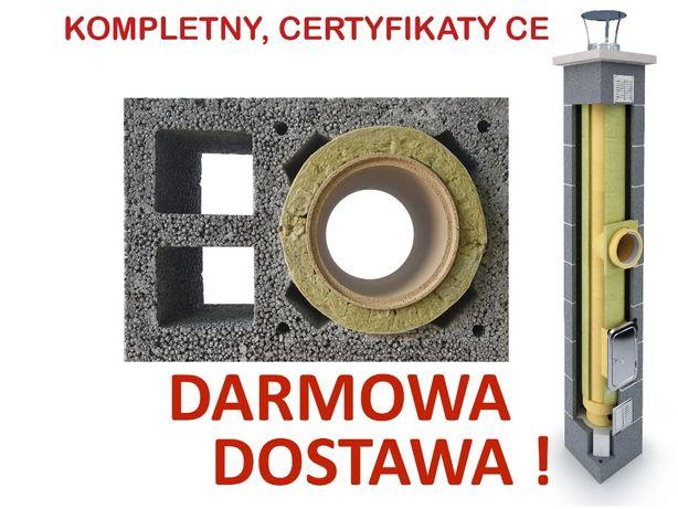 Komin ceramiczny system kominowy KW2 fi 200 6m KOMPLETNY OCIEPLONY