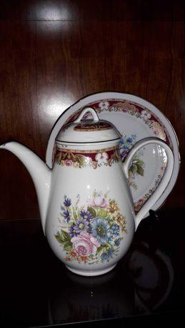 Bule e prato de porcelana Limoges