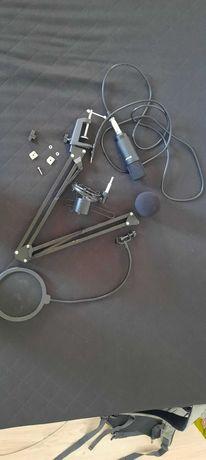 Mikrofon TRACER Studio PRO Zestaw Ramię + Popfiltr + kosz