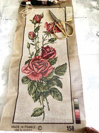 Старинная вышивка,набор для вышивки франция,винтажная вышивка,нитки DM