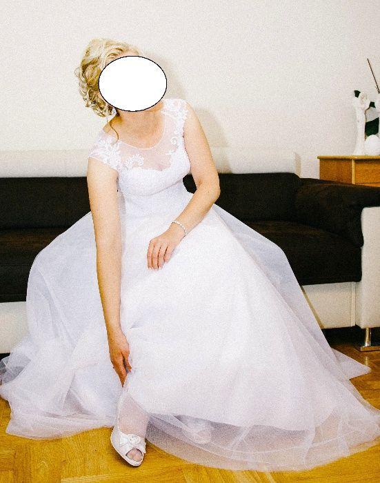 Suknia biała, rozmiar 36/38 Miastko - image 1