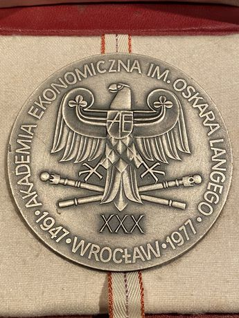 Medal Akademia Ekonomiczna we Wrocławiu 1977. Mennica Państwowa
