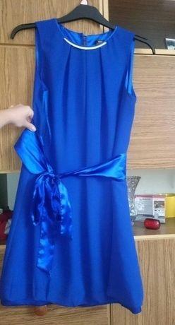 sukienka ala bombka chaber niebieska