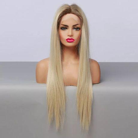 Peruka blond lace front jak naturalne