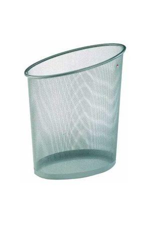 Caixote Lixo - Metal - Cinza metalizado - malha metálica - 15uni