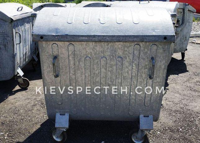 Евроконтейнер для мусора 1100 л., оцинкованый, б/у, контейнер для ТБО