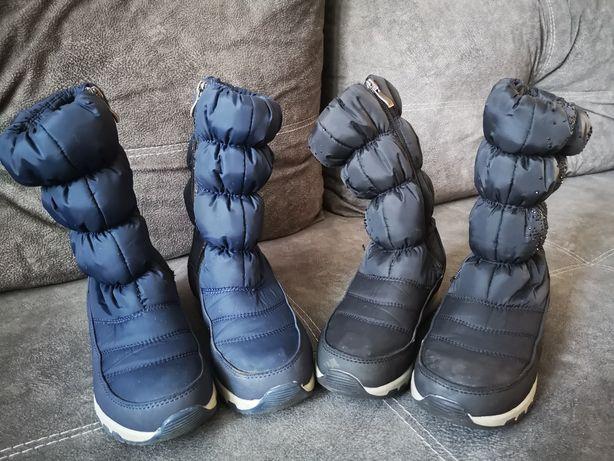 Зимние сапоги для девочки,близняшек,двойняшек. Размер 34, стелька 21,5