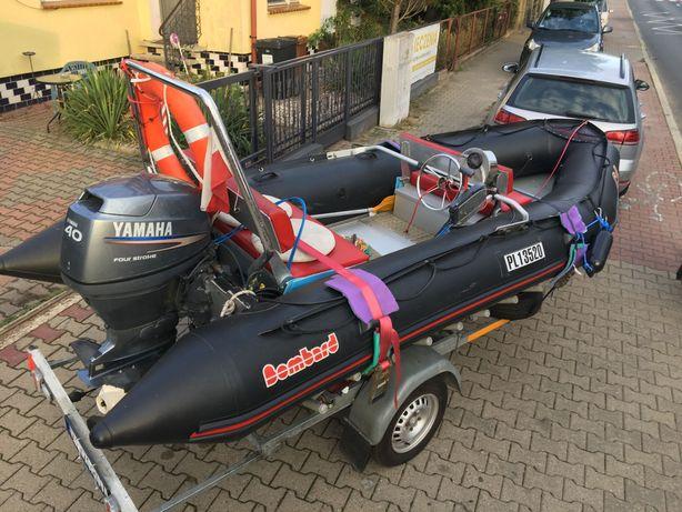 Ponton typu Rib+silnik yamaha 40km+przyczepa+osprzęt=super zabawka !!!