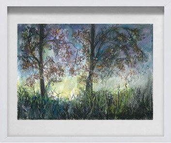 Obraz pastelowy w ramie drewnianej 3D 40x50