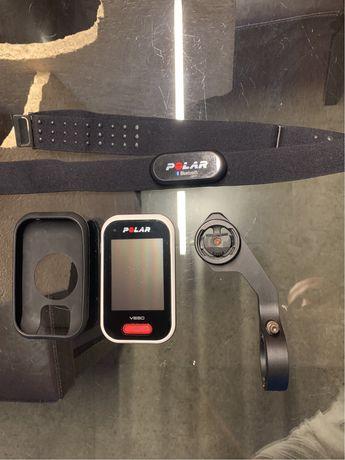 Vendo GPS POLAR V650 + Banda Cardíaca + Suporte
