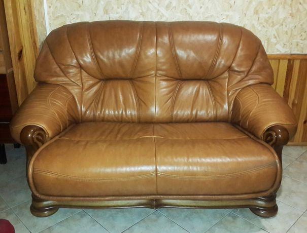 """Дубовый кожаный диван модель """"Барон"""""""