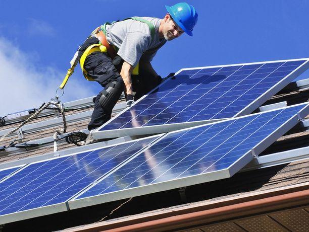 Установка солнечных електростанцый