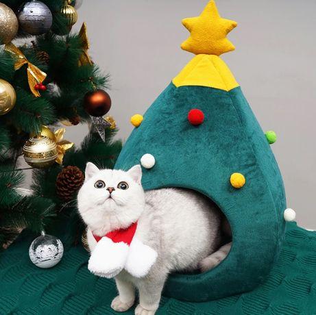 Новогодний Лежак, Кровать, Диван для маленьких собак и кошек