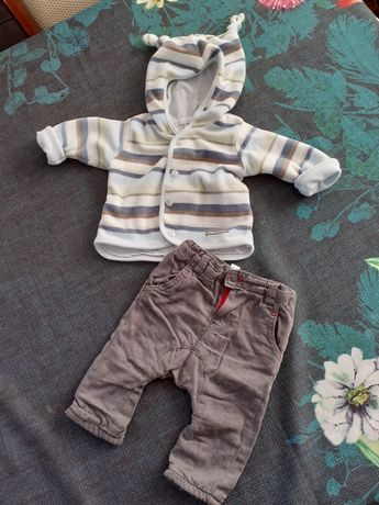 Bluza i spodnie ocieplane h&m
