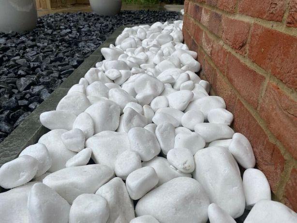 Otoczak Śnieżnobiały Biały Kamień Thassos Grys WARSZAWA White Angel