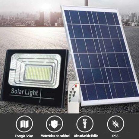 PAINEL SOLAR C/ PROJETOR LED 50W