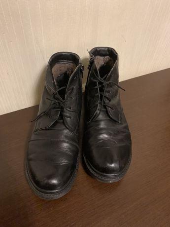 Зимові черевики, ботінки, шкіра