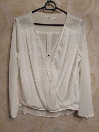 Новая белая классическая блузка с рукавами М (44-46)