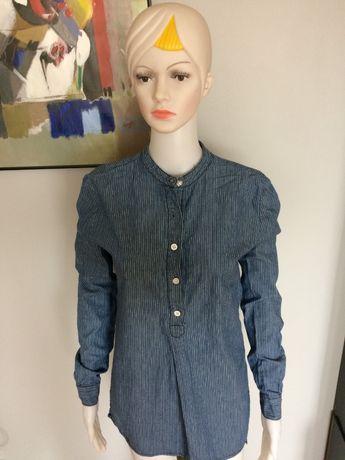 Koszula jeans Forever 21 stójka tył dłuższy 36 tunika