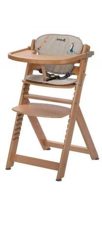 krzesełko do karmienia safety st1 Timba naturalne z wkładką
