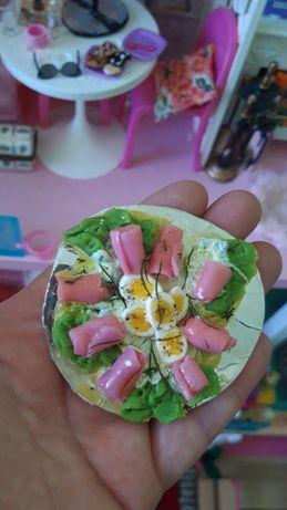 Miniatury dla lalek barbie jedzenie akcesoria
