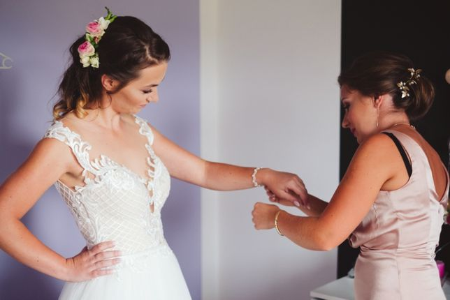 suknia ślubna rozmiar 36/s ivory