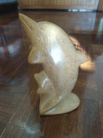 Peça de decoração em pedra sabão - golfinho delfim - Novo - artesanato