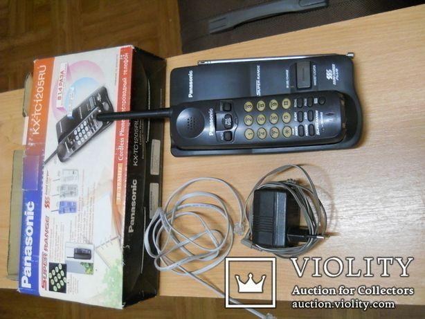 Радиотелефон Panasonic, рабочий, трубка без аккумулятора