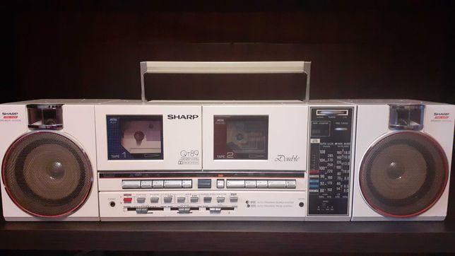 Radiomagnetofon dwukasetowy SHARP QT89 UNIKAT