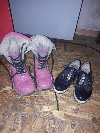 Зимние сапожки и туфельки девочке