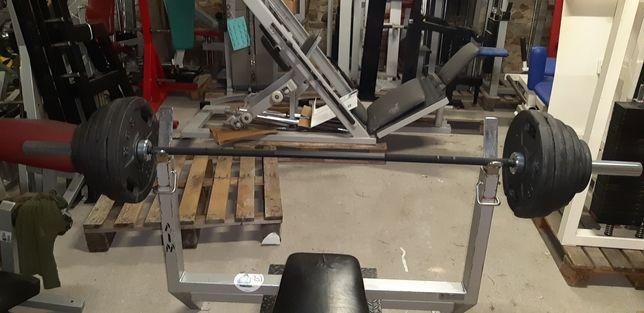 Zestaw olimpijski Gryf +Obciążenia 155kg HES