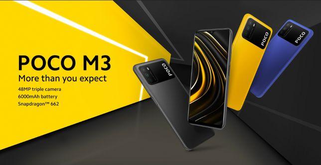 Xiaomi Poco M3 64G/128B Black/Blue/Yellow GSM+GSM Global Version