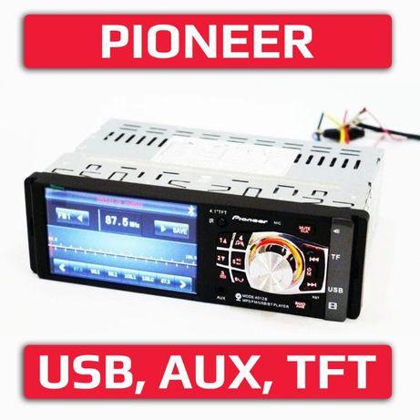 "PIONEER 4012 автомагнитола блютуз TFT, SD, LCD, 4"", ТОП!"