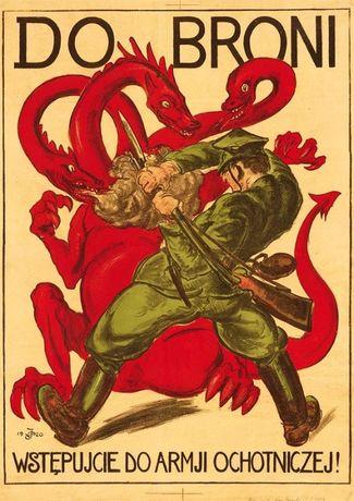 Plakat A3 - DO BRONI. Wstępujcie DO ARMJI OCHOTNICZEJ! 1920/005