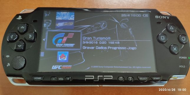 Consola PSP HAKEADA (crack) + 16GB microSD + dezenas de jogos (no cart