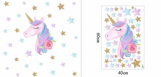 Naklejki ścienne unicorn pegaz róż