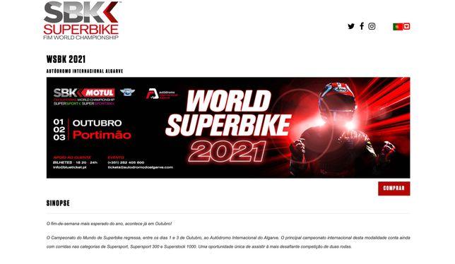 Bilhetes Superbikes Portimao  AIA